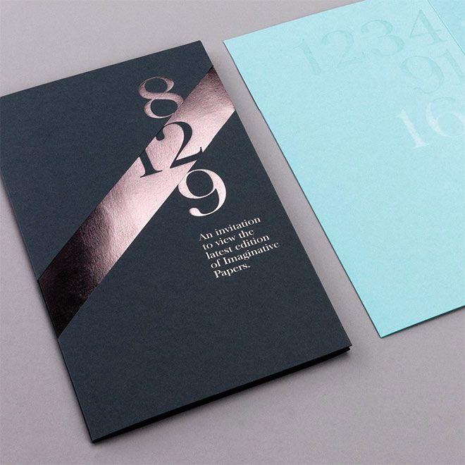 Печать открыток с золотым тиснением